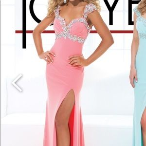 Tony Bowls Pastel Sweetheart Gown